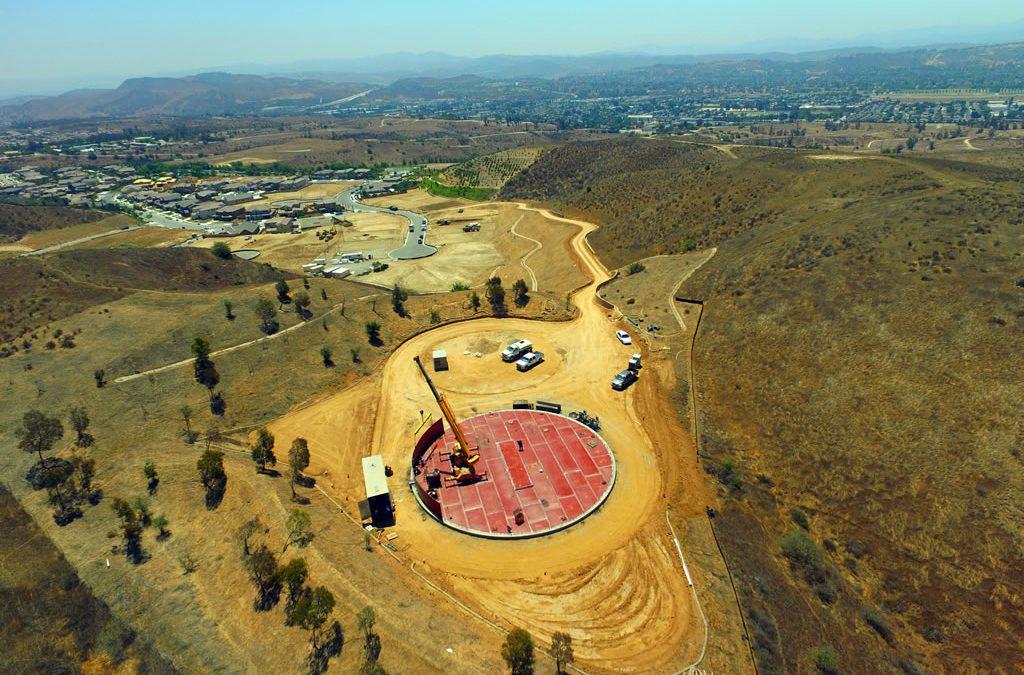 1.5 Million gallon tank in Moorpark CA