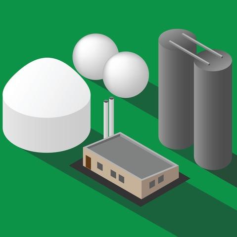 Biomethane plant digester tank
